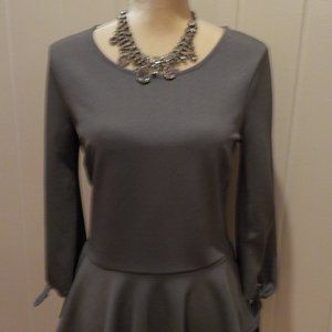 Peplum Blouse with tied sleeves, S